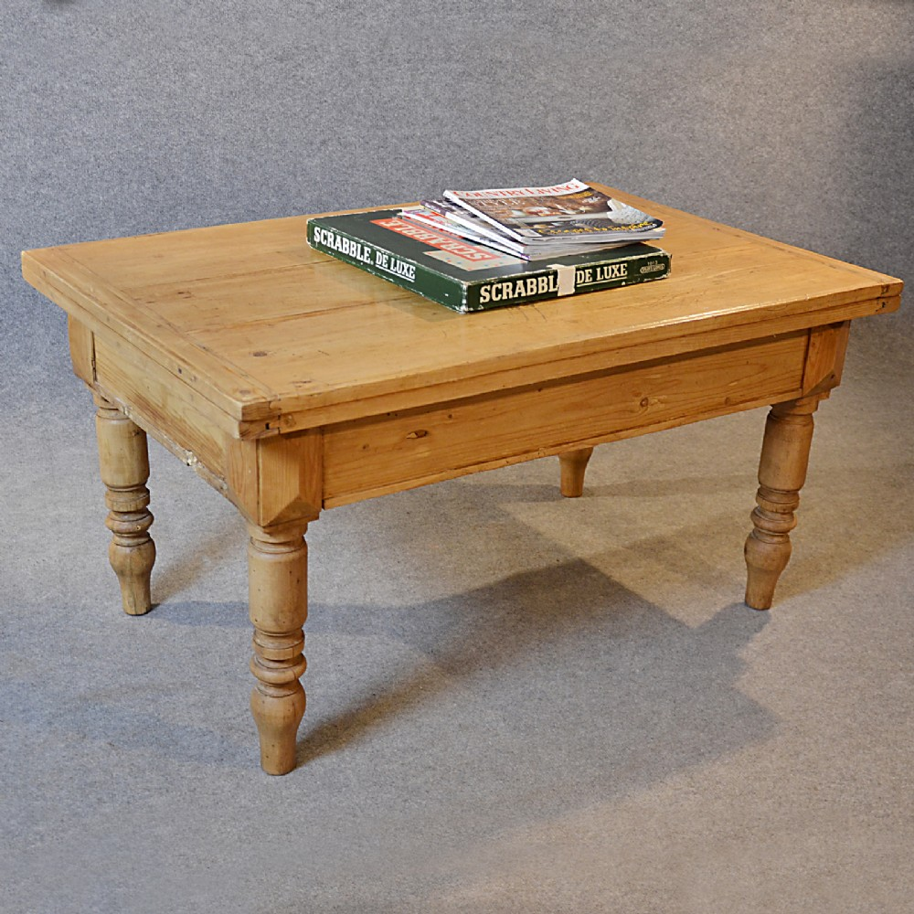 Antique coffee table victorian pine low sofa magazine large occasional c1880