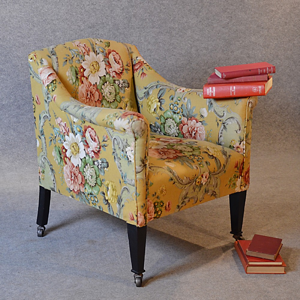 Bedroom Reading Chair: Antique Armchair English Victorian Salon Reading Bedroom