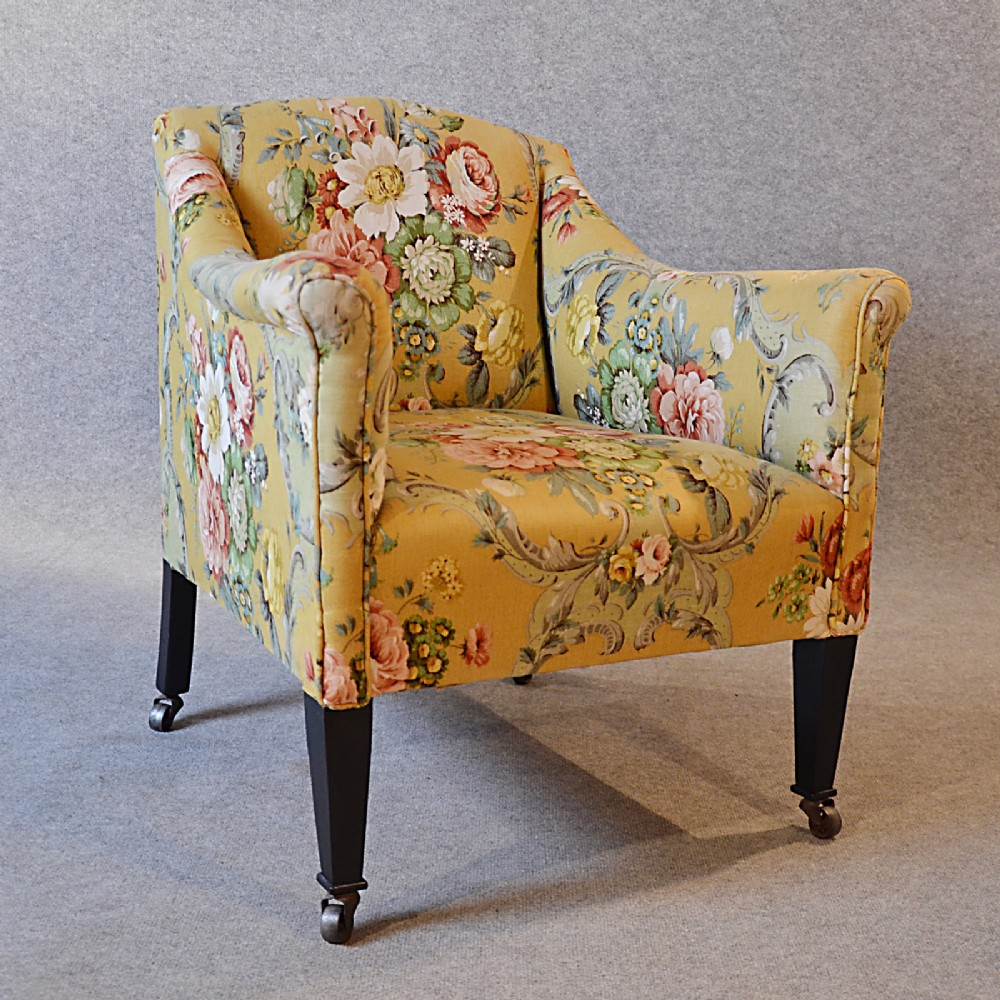 Antique armchair english victorian salon reading bedroom hall arm chair c1870 255072 - Reading chair for bedroom ...