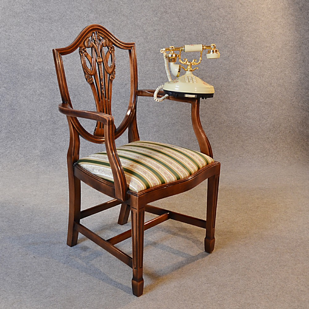 Antique Carver Elbow Chair Armchair Hepplewhite Revival English George Vi 256144