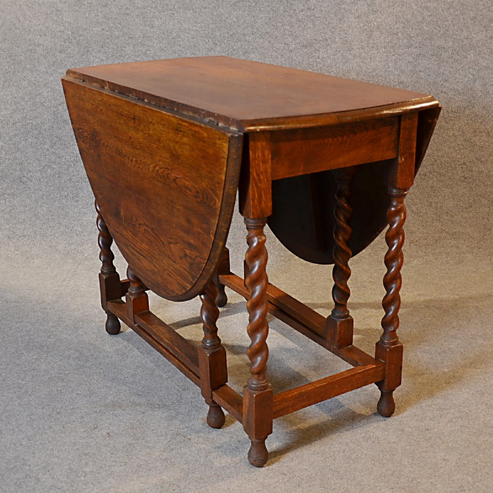 Antique Oak Gate Leg Oval Table Kitchen Dining Farmhouse English Gateleg C191