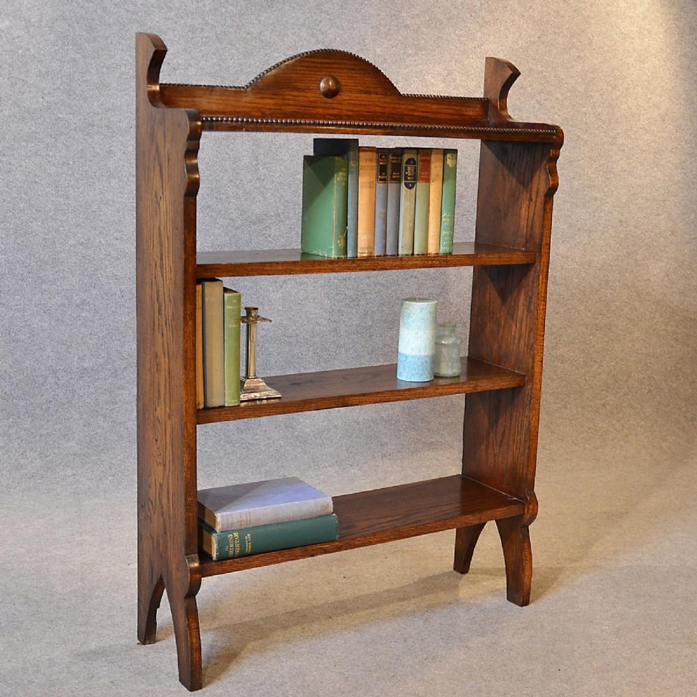 Antique Bookshelves: Antique Bookcase Edwardian Oak Open Library Cabinet Book