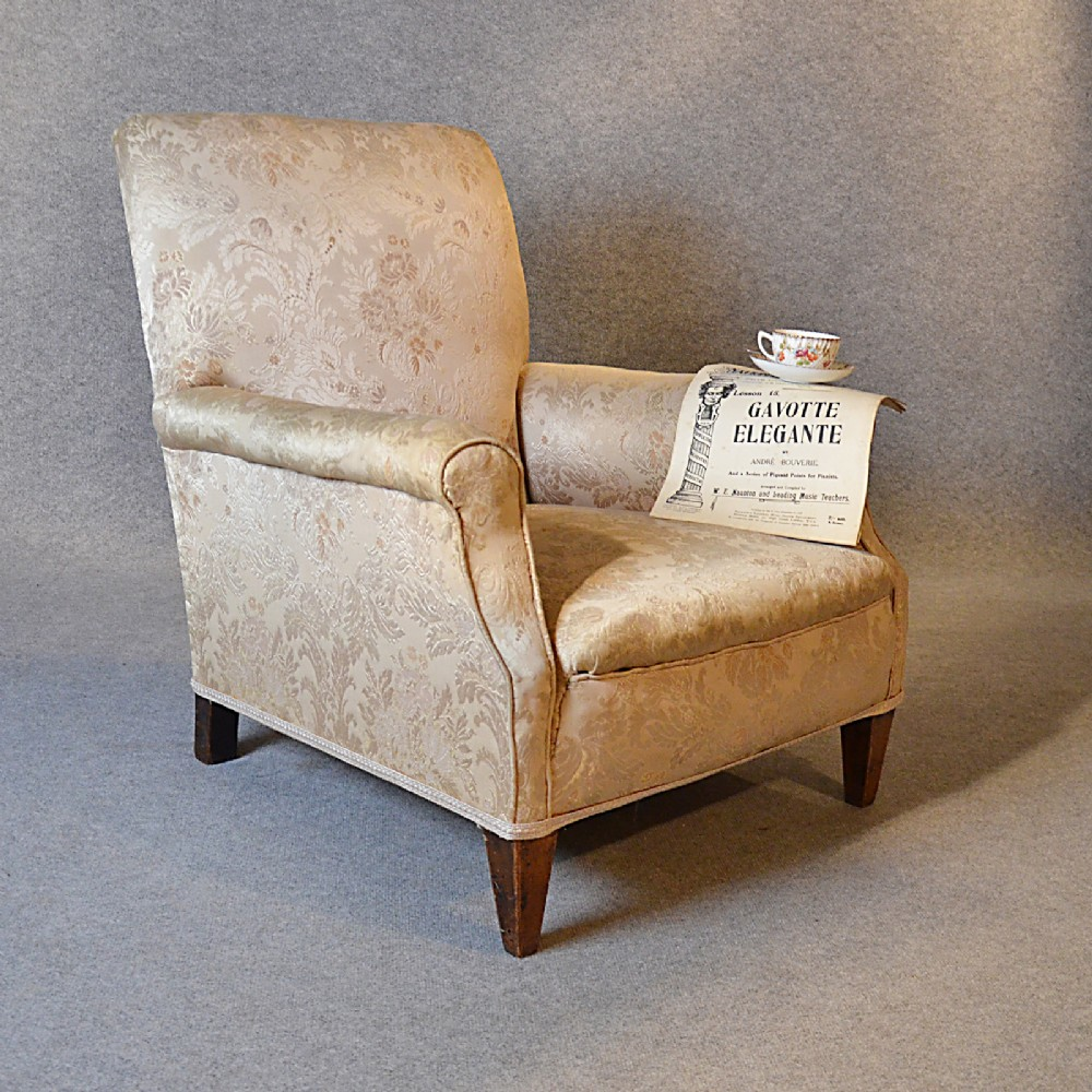 Antique easy chair - Antique Armchair Drawing Room Upholstered Easy Chair Victorian English C1900