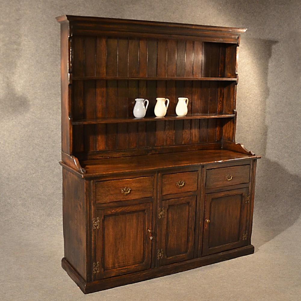 Country Kitchen Dresser: Antique Elm Welsh Dresser Country Kitchen Display Cabinet