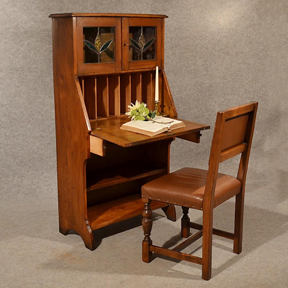 Antique bureau writing study desk oak liberty quality for Bureau in english