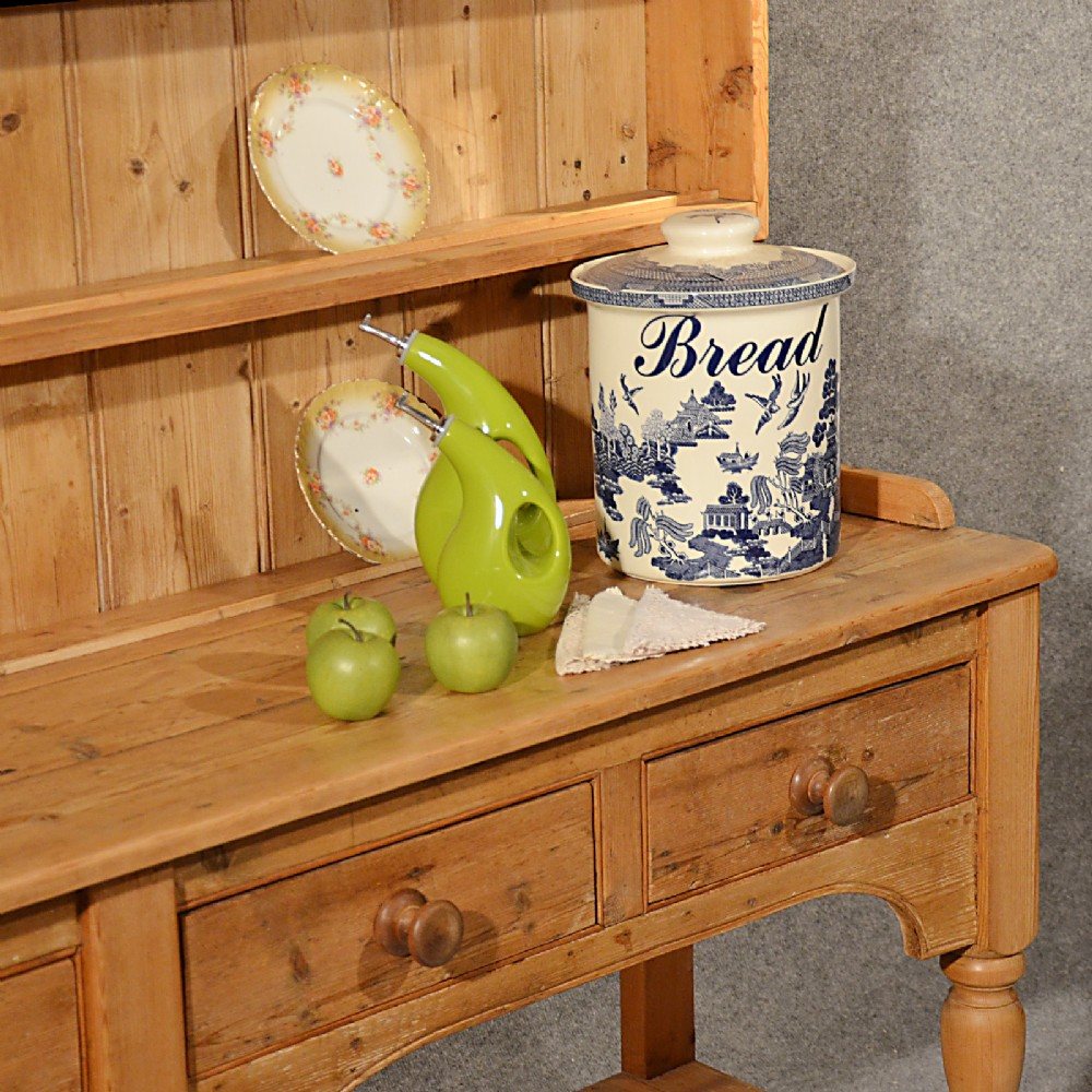 Antique Large Victorian Pine Dresser Welsh Country Kitchen
