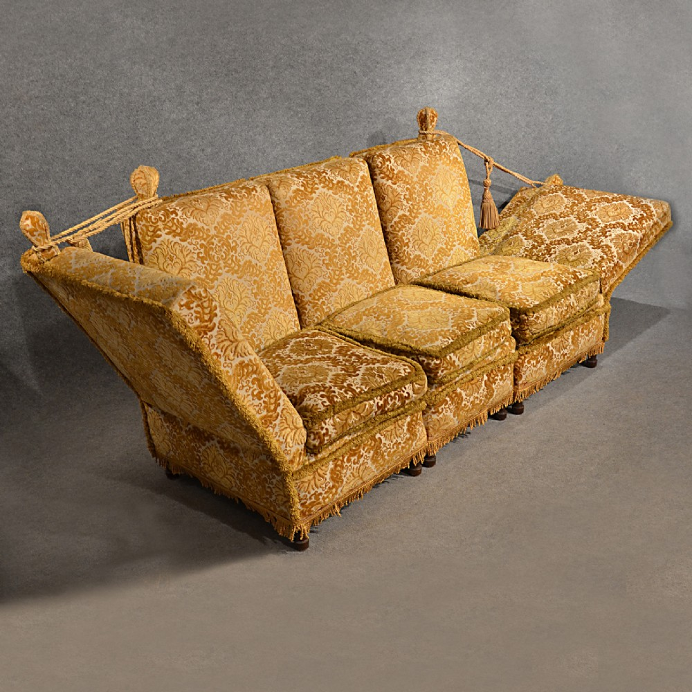 Merveilleux Antique Knole Sofa Couch Settee Large 3 Seater Day Bed English Victorian  C1900