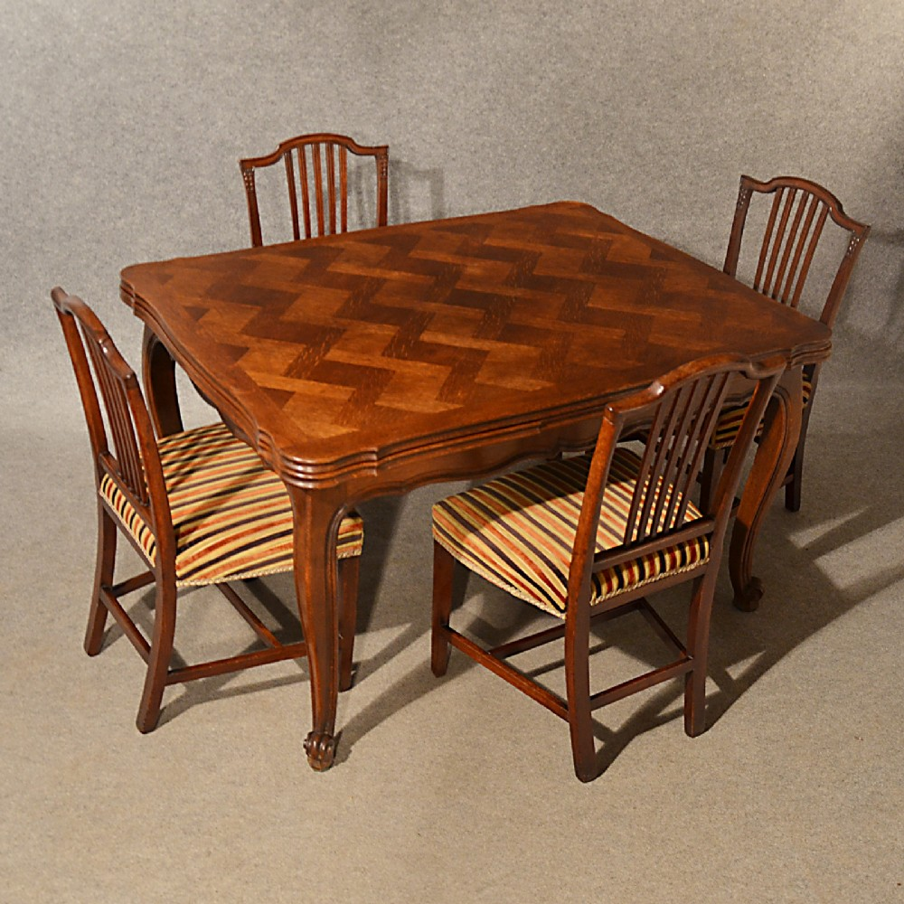 antique extending kitchen dining table french oak draw leaf 4 8 seater c1900 332095. Black Bedroom Furniture Sets. Home Design Ideas