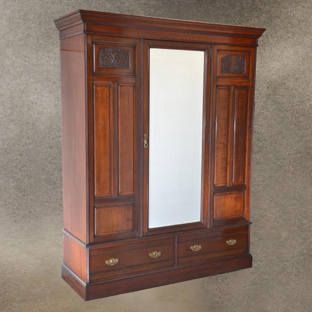Antique Walnut Wardrobe Armoire Top Quality English ...