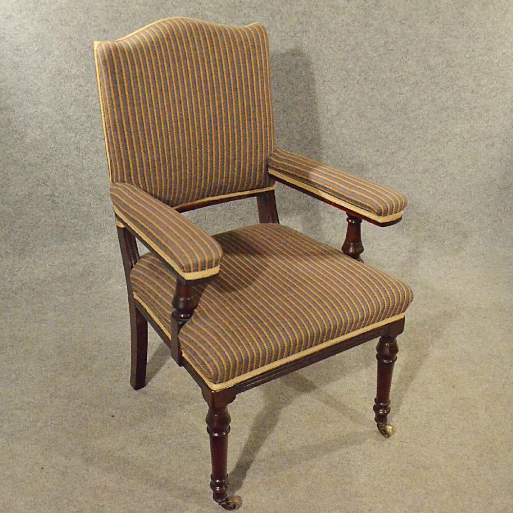 Antique Armchair Mahogany Salon Easy Chair Comfortable ...