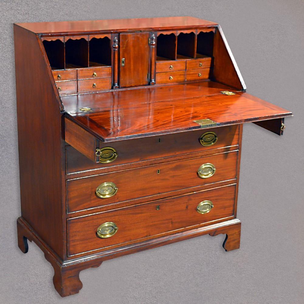 Antique Fall Front Bureau Georgian Desk Mahogany Writing Table