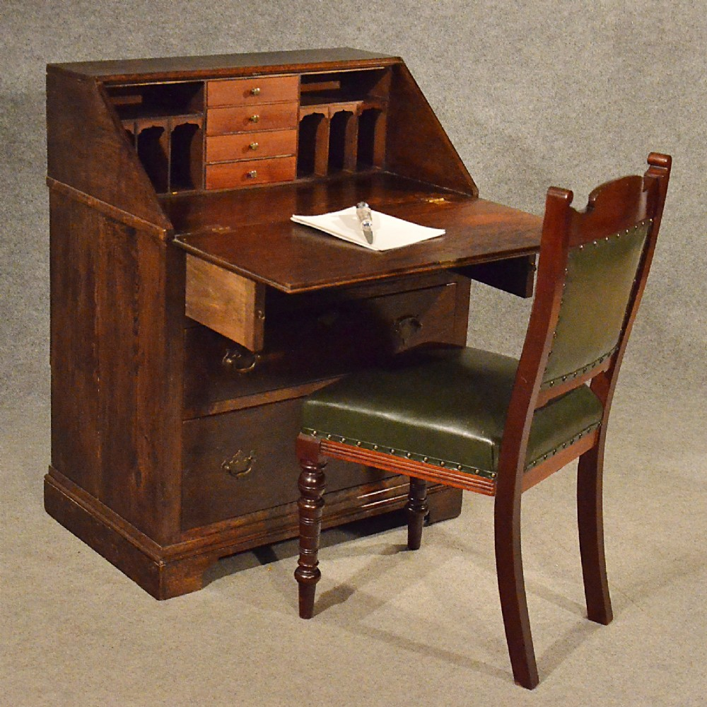 Antique Oak Bureau Writing Study - 265.8KB