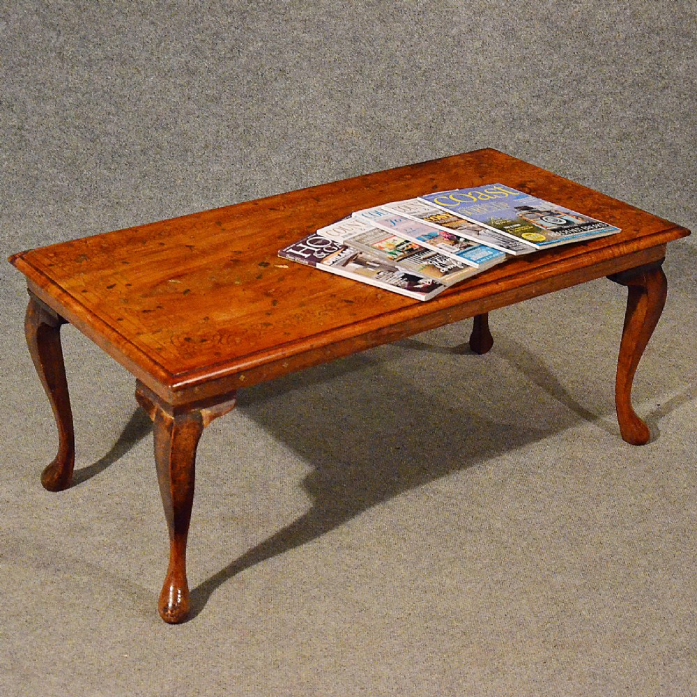 antique coffee table serving tea occasional magazine brass inlaid mahogany c1900 376261. Black Bedroom Furniture Sets. Home Design Ideas