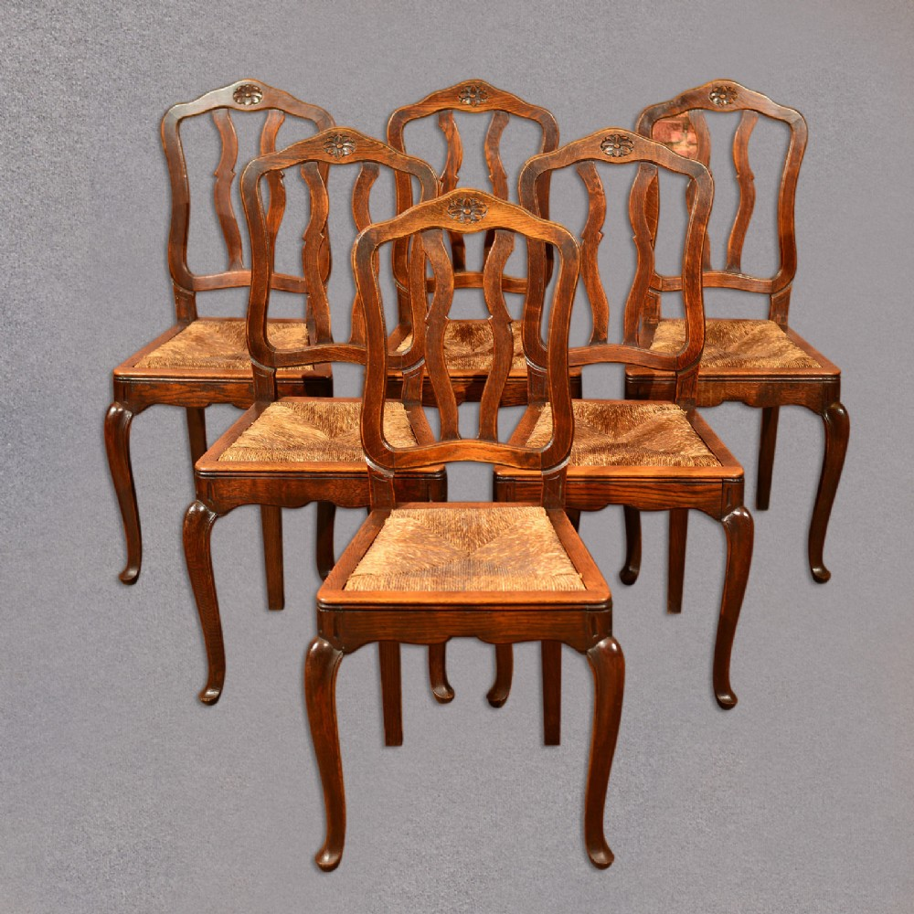 French Country Kitchen Chairs: Antique Set Of 6 Dining Chairs, French Country Kitchen