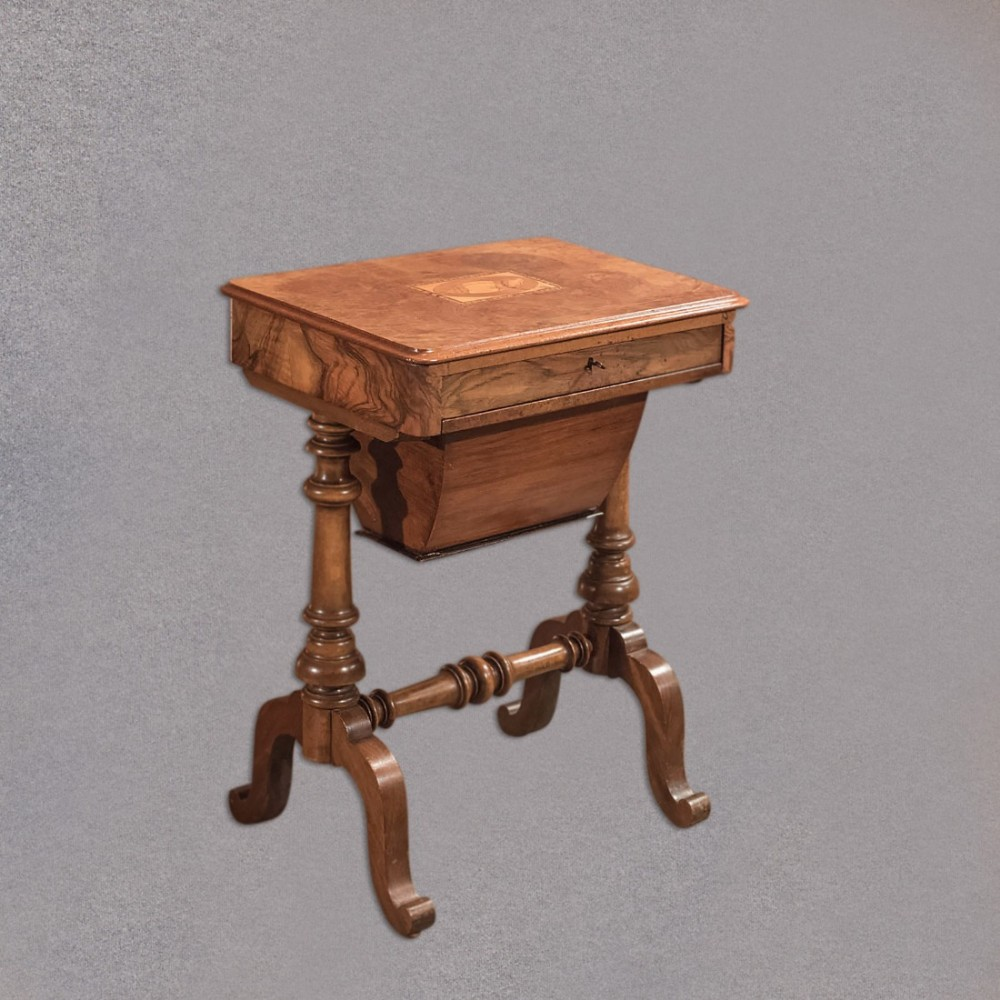 antique work table victorian sewing table c1860 435659. Black Bedroom Furniture Sets. Home Design Ideas