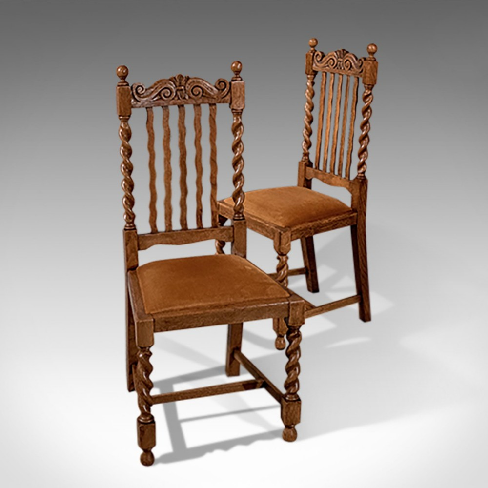Barley Twist And Carved Chair