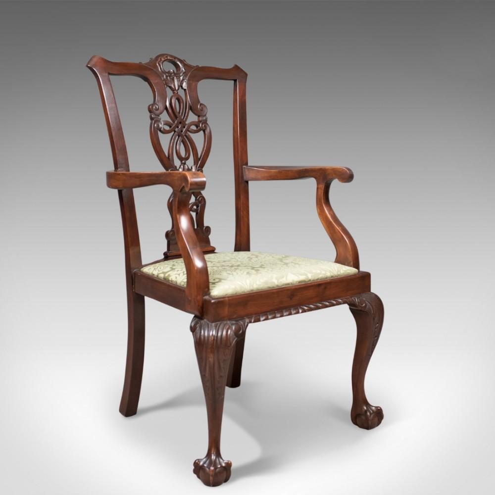 antique carver chair victorian chippendale revival c1890