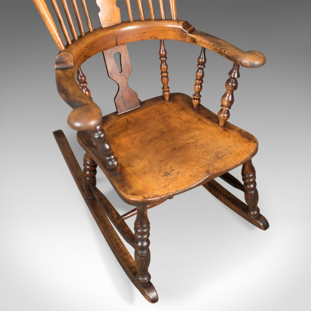 Awesome Victorian Antique Windsor Rocking Chair English Armchair Beatyapartments Chair Design Images Beatyapartmentscom