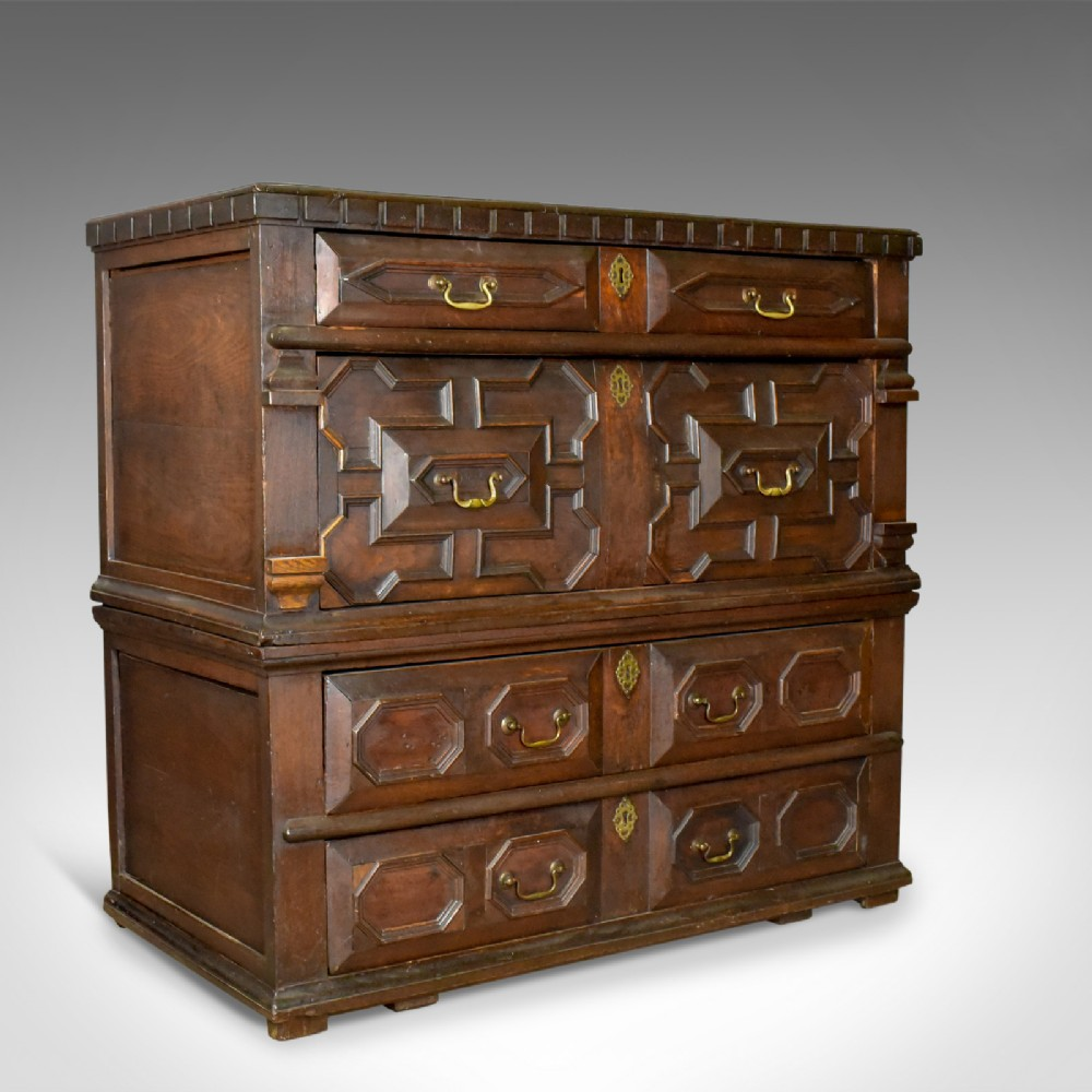 large antique chest of drawers 17th century english oak
