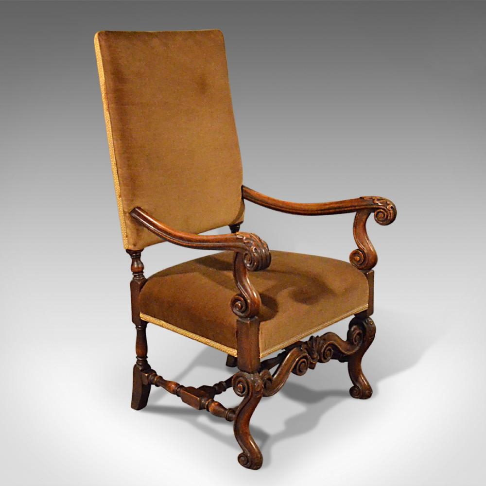 antique elbow chair english walnut armchair victorian circa 1880
