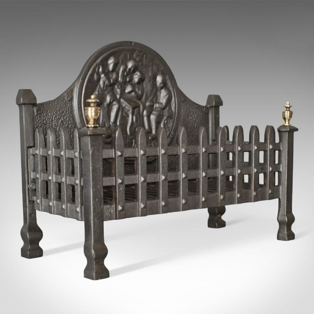antique fire basket english victorian fireplace grate circa 1900