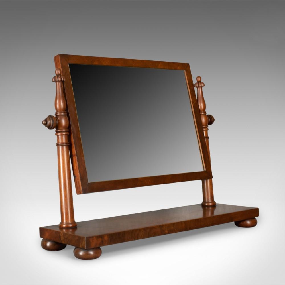 large antique dressing table mirror flame mahogany william iv toilet c1835