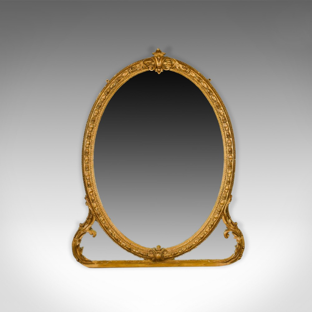 antique wall mirror english victorian gilt gesso overmantel circa 1850