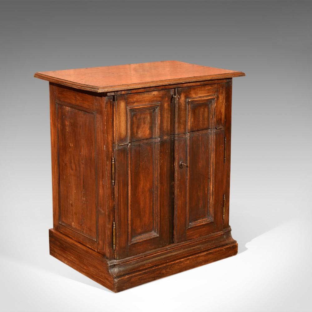 antique specimen cabinet french oak circa 1850