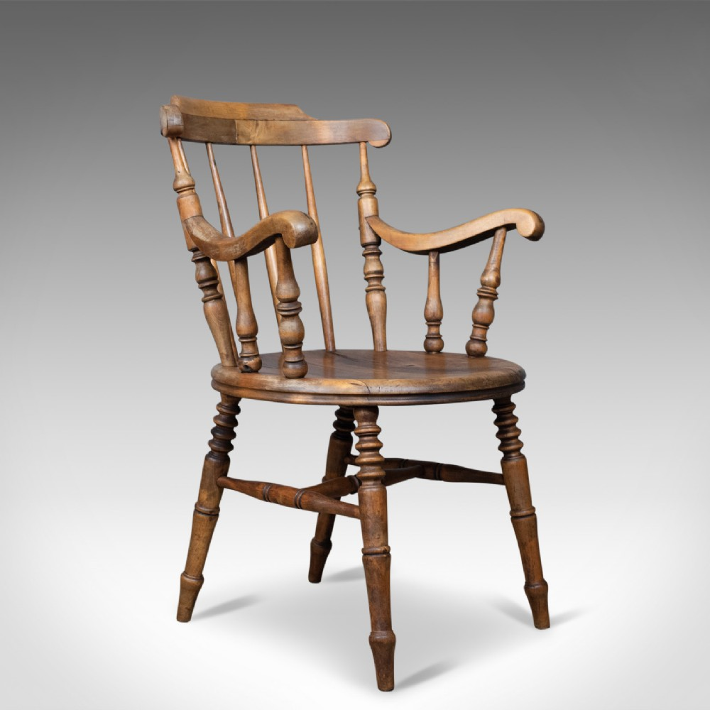 antique elbow chair english victorian country kitchen armchair circa 1900