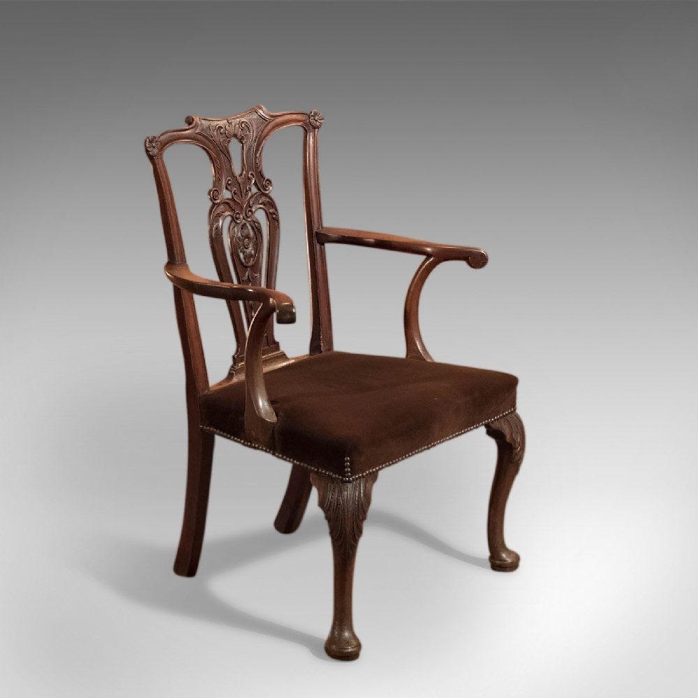 antique elbow chair 19th century armchair in chippendale taste