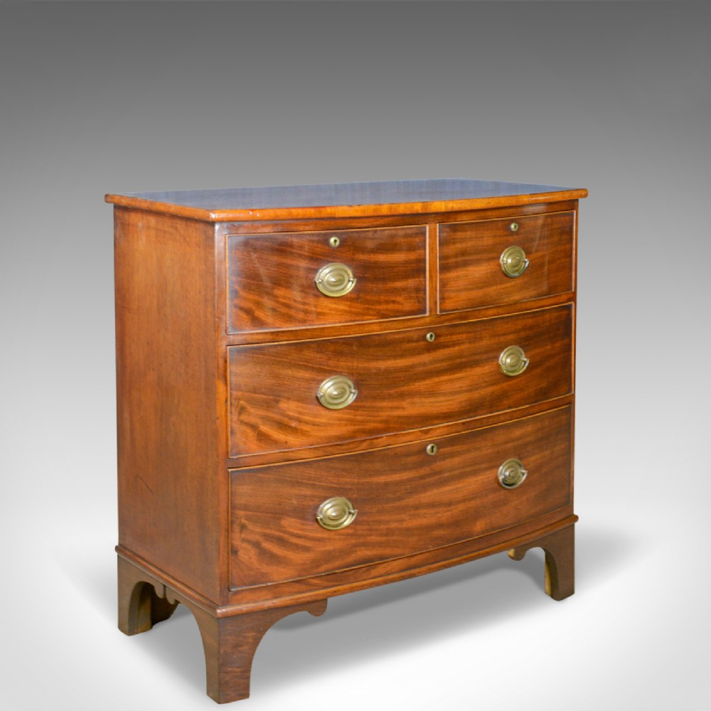 antique bow front chest of drawers english georgian mahogany circa 1790