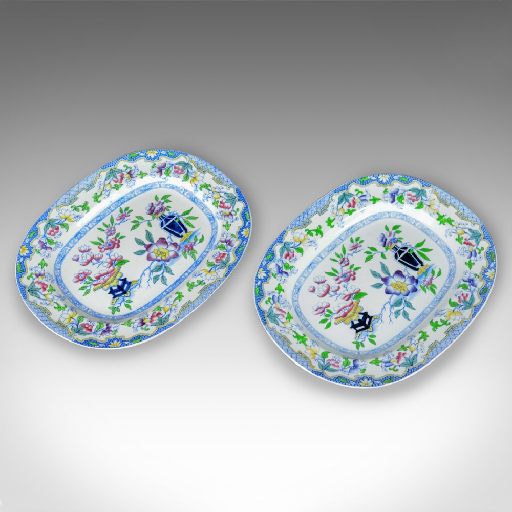 mintons ovular serving plates english early 20th century ceramic dishes