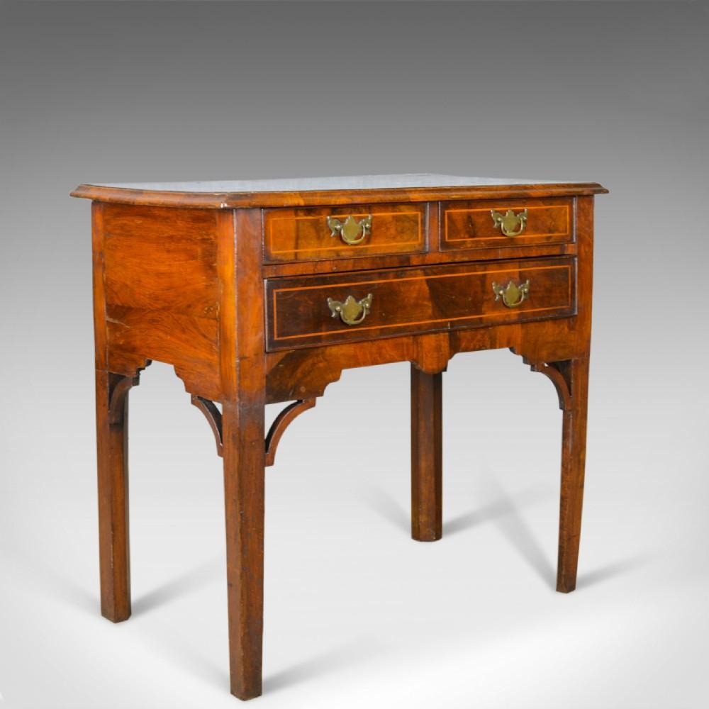 antique lowboy english georgian walnut side table early c19th circa 1800