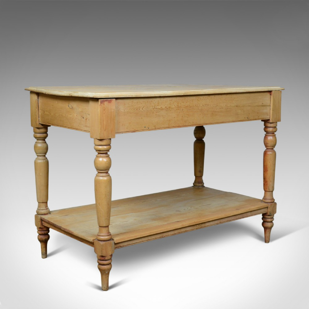 antique pine console table english victorian kitchen work circa 1880