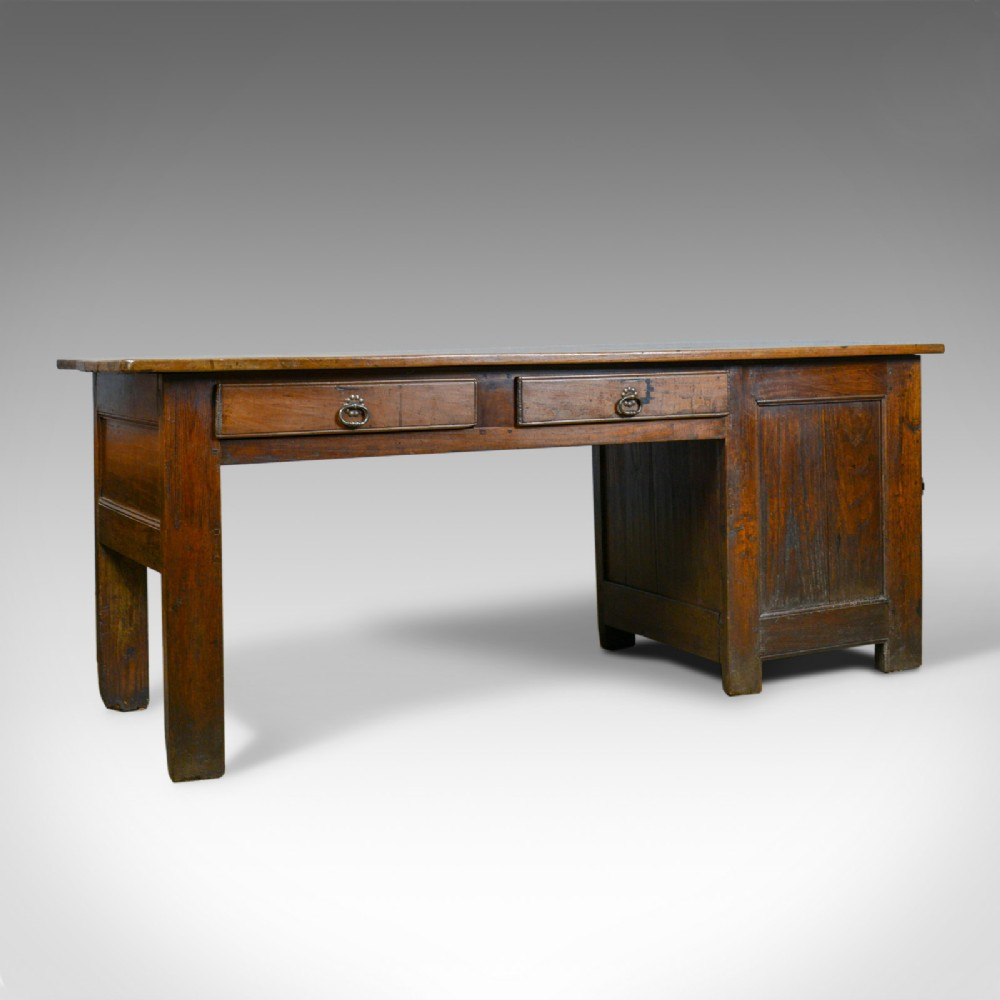 antique french mayoral clerk's desk oak elm mid 19th century circa 1850