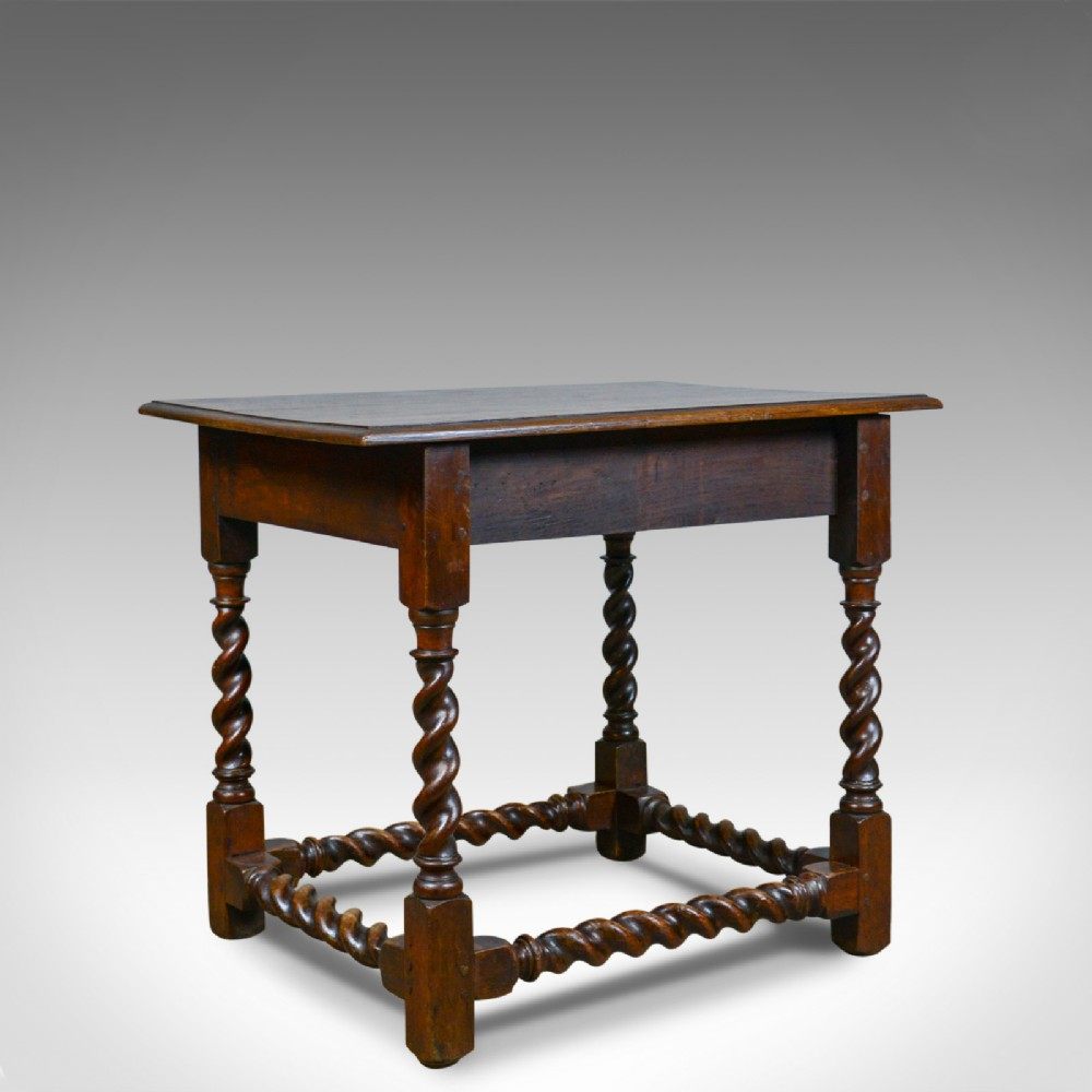 antique side table english victorian english oak late c19th circa 1880