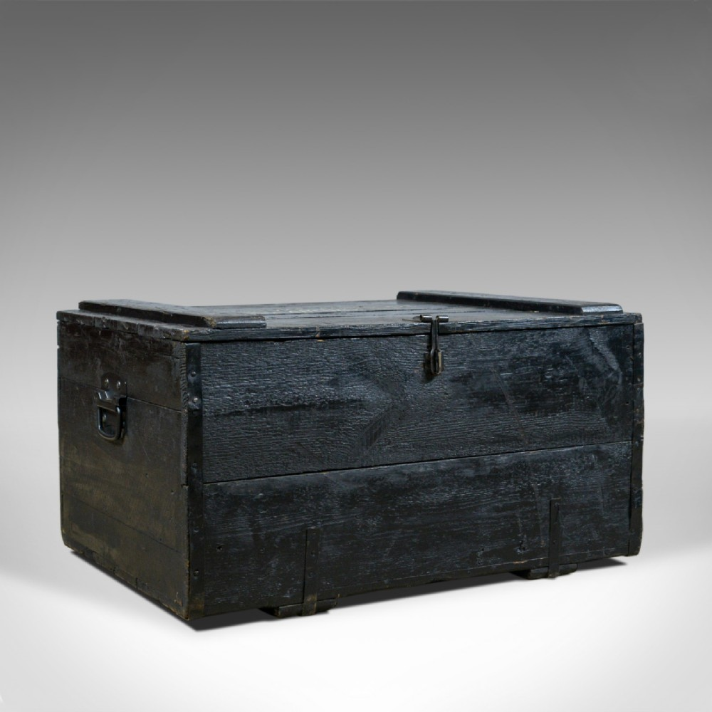 antique steamer trunk wildman british viceconsulate chile ships chest c1919