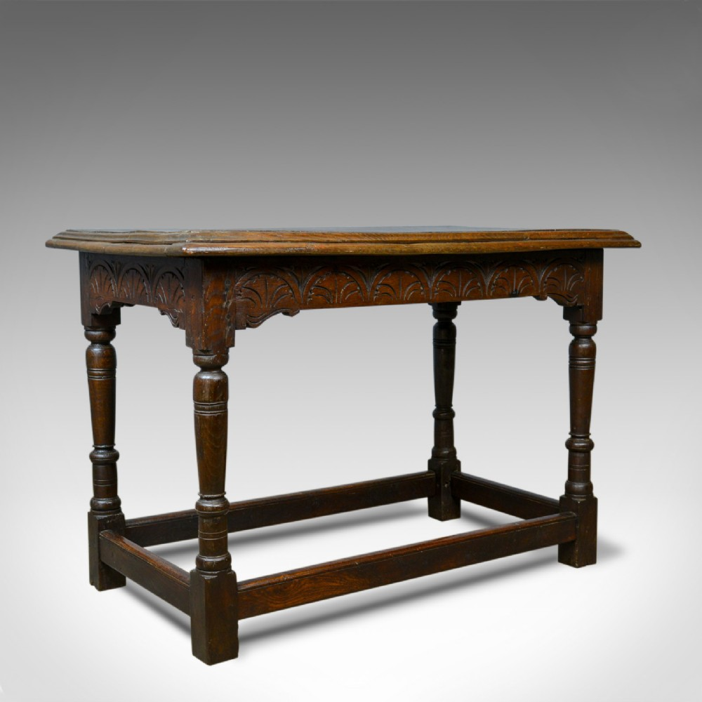 antique oak console table english jacobean revival refectory c18th and later