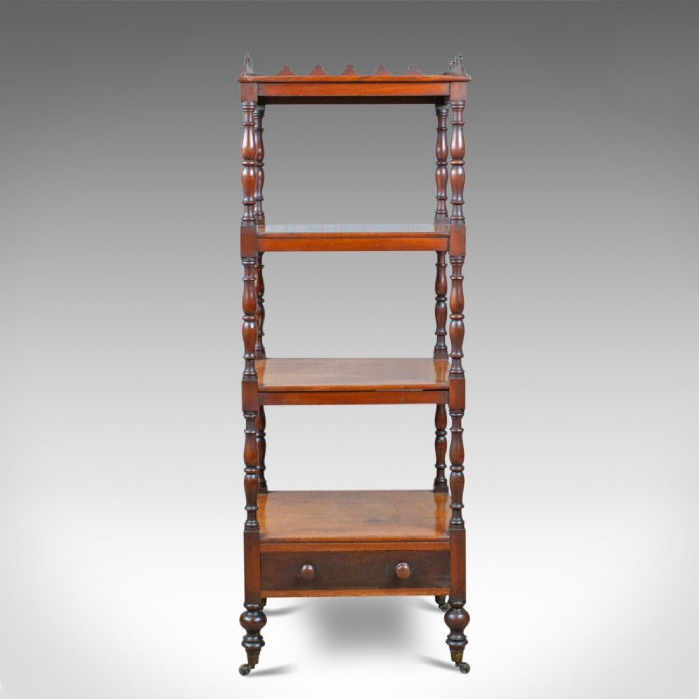 antique whatnot english mahogany four tier regency display stand c1820