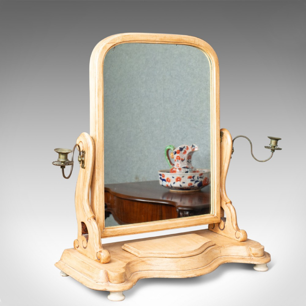 antique dressing table mirror english victorian vanity toilet painted c1870