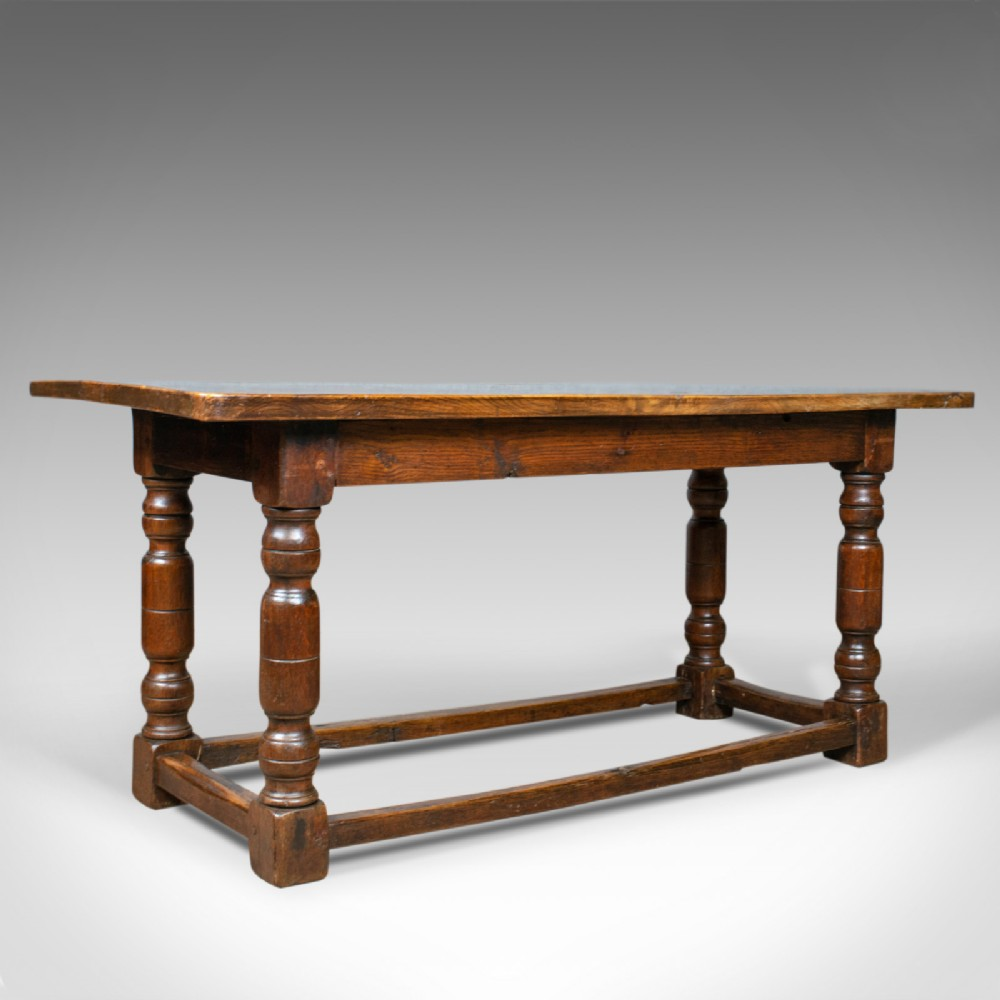 antique refectory table english elm dining console early 18th century