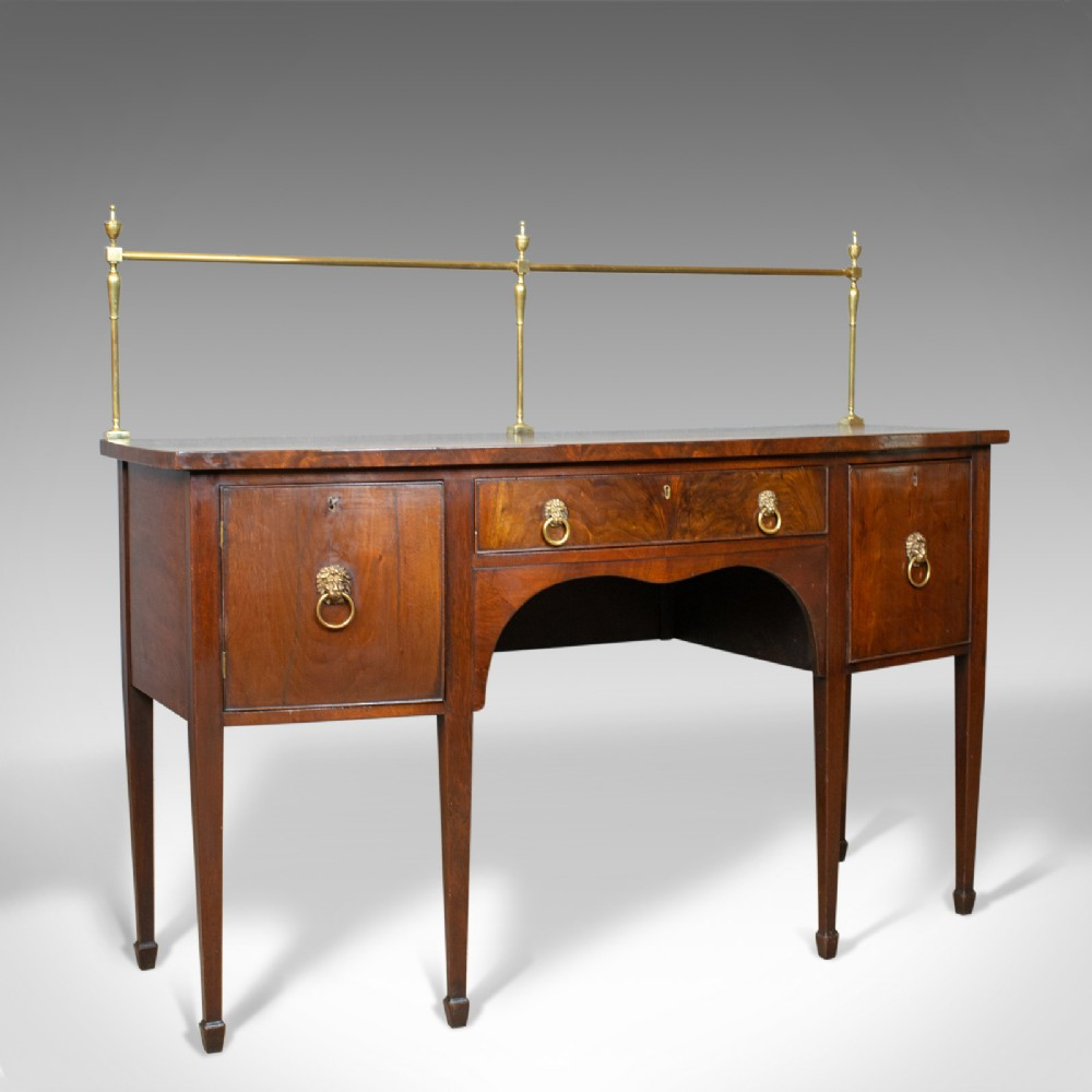antique sideboard english regency server mahogany 19th century circa 1830