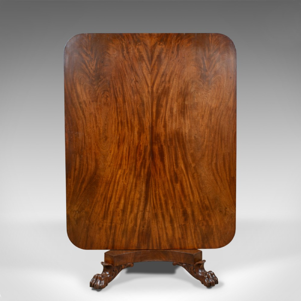 antique breakfast table english regency flame mahogany tilttop circa 1830