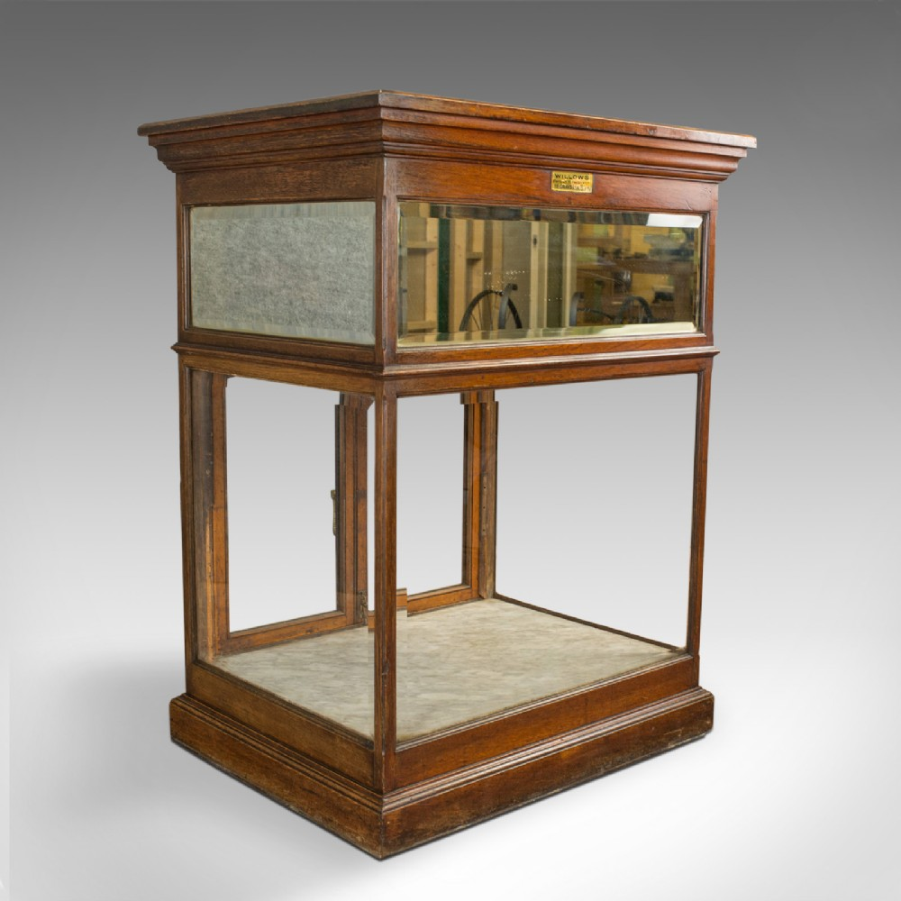 antique shop display cabinet english edward willows patented circa 1905