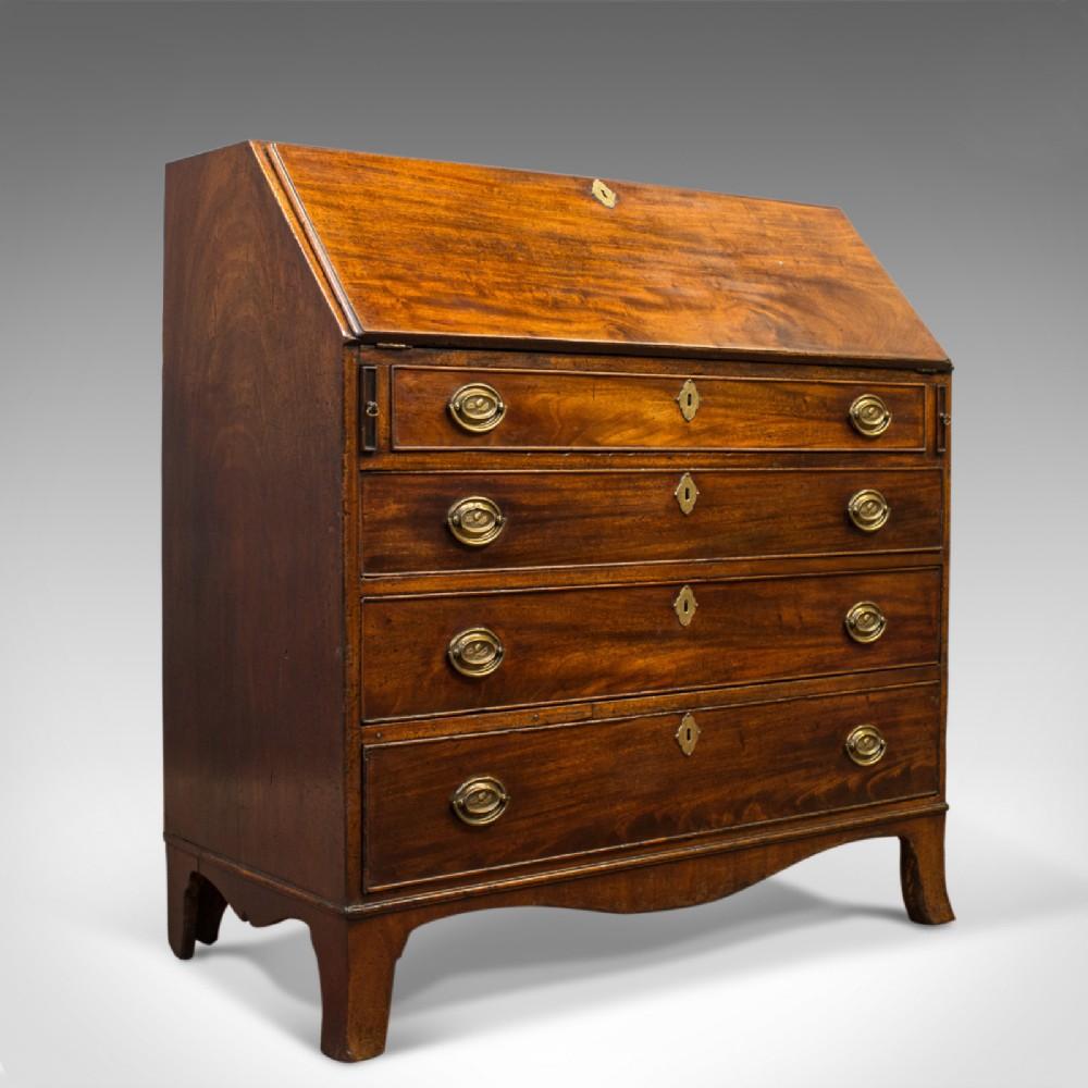 antique bureau english georgian mahogany late 18th century circa 1790