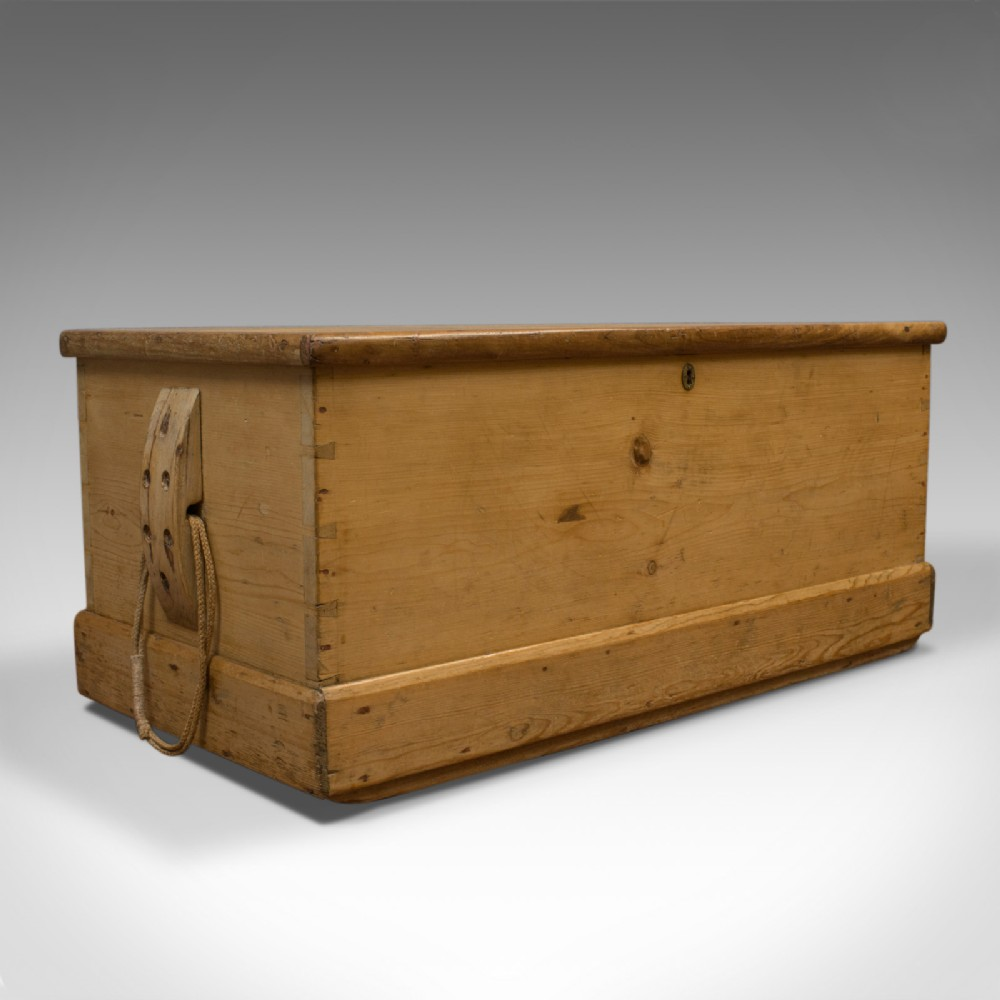 antique shipwrights chest victorian coffer english mid 19th century 1850
