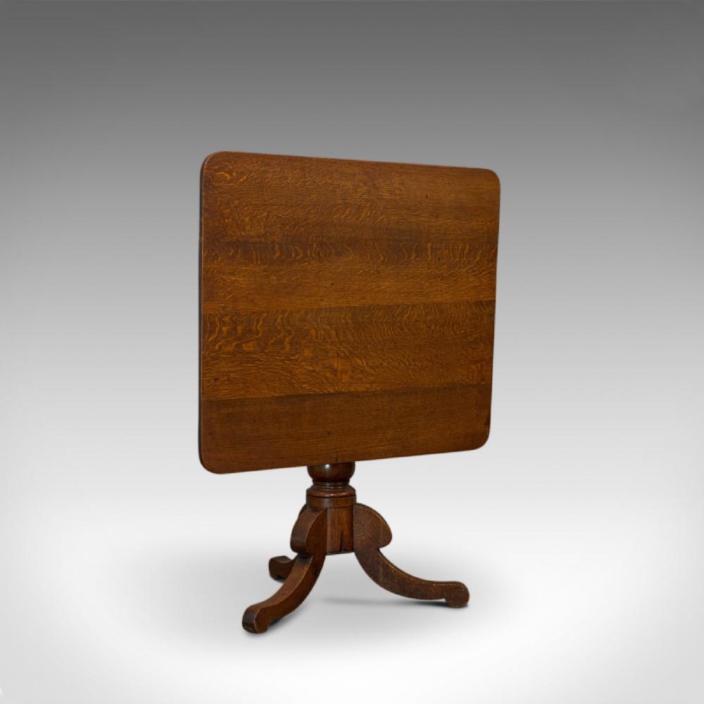 antique tilttop table english victorian oak side lamp card circa 1850