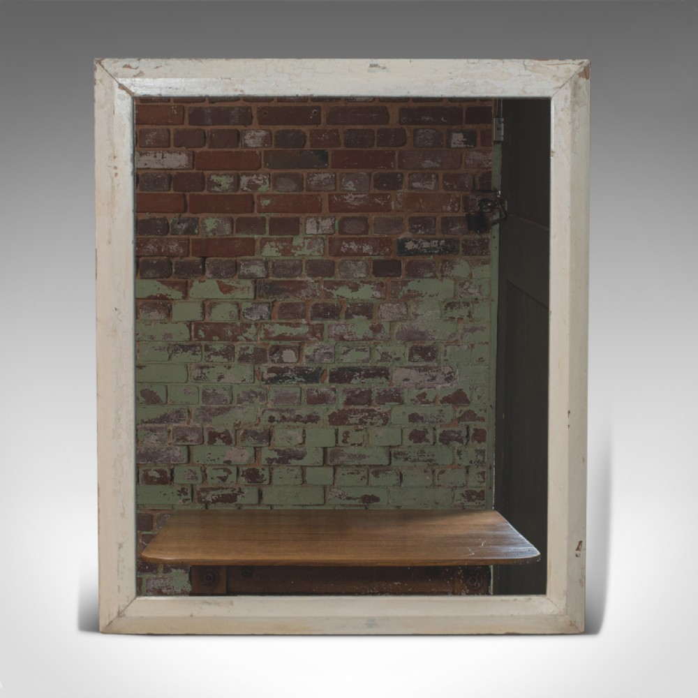antique wall mirror english victorian pitch pine late 19th century c1880