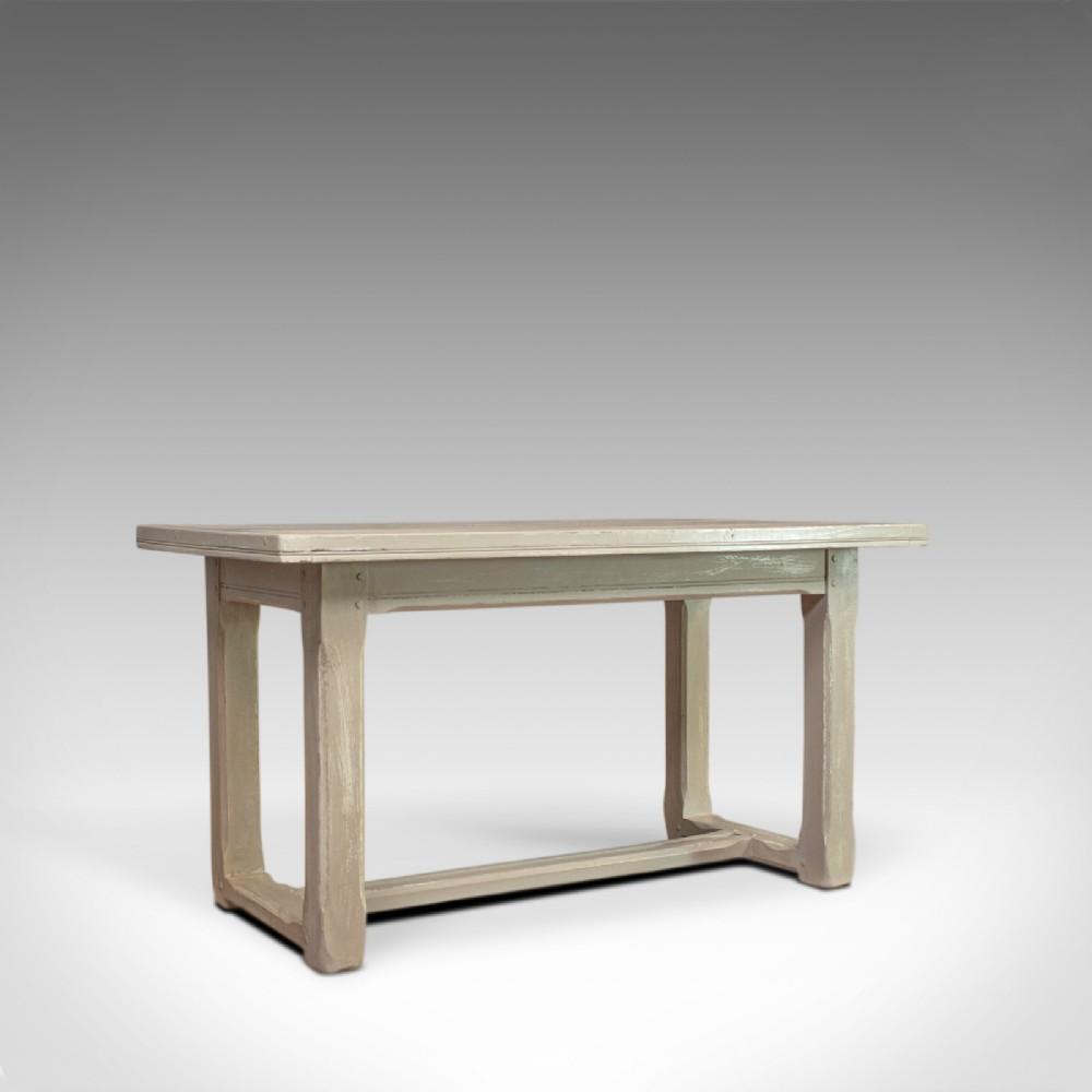 antique dining table jacobean revival painted oak refectory seats 4 c1910