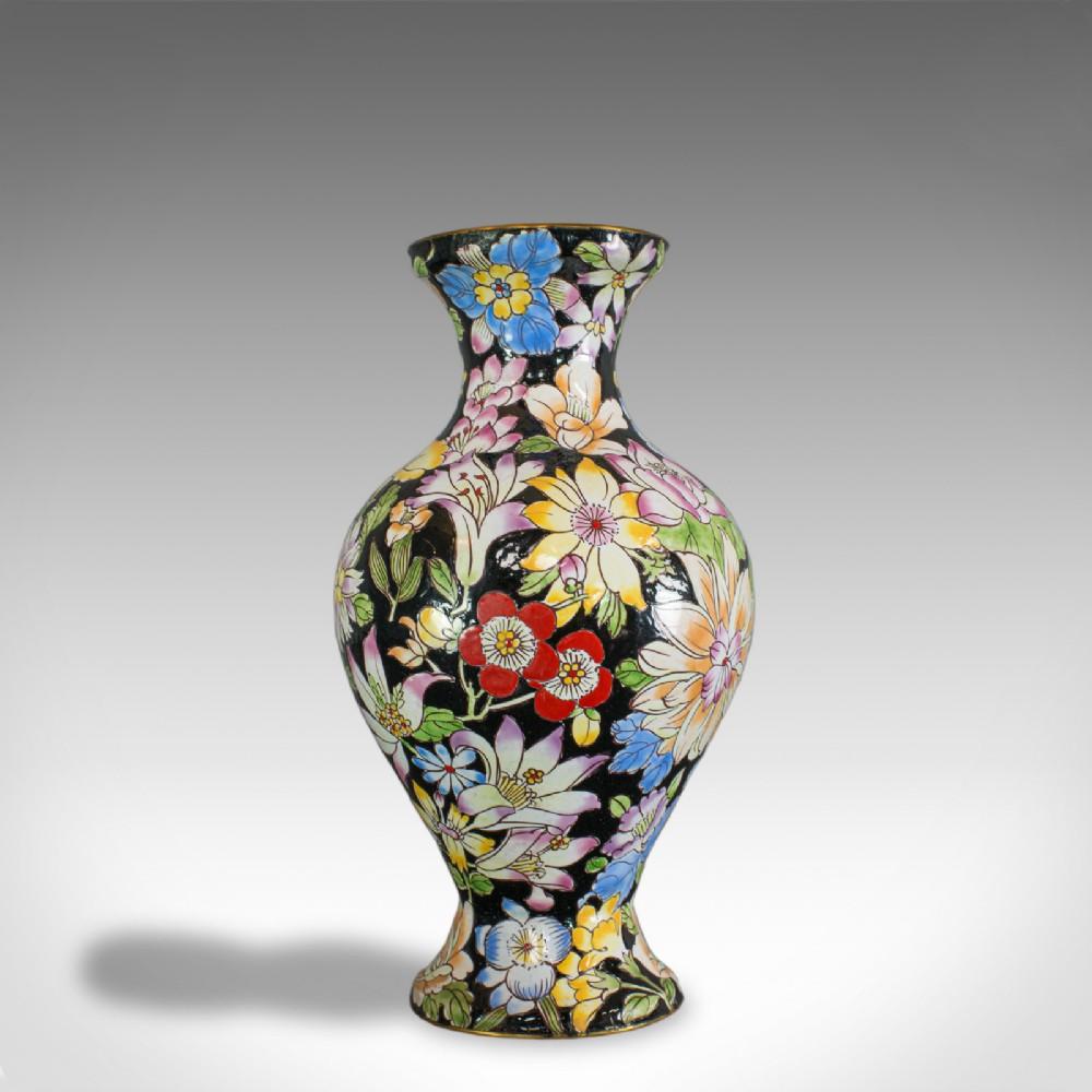 antique decorative vase french cloisonne baluster urn victorian circa 1880